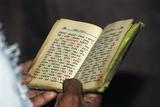 Prayer Book, Lalibela, Ethiopia Fotografisk tryk