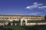 Facade of a Building, Castiadas, Sardinia, Italy Photographic Print