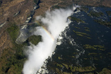Aerial View of the Victoria Falls, Zambia Photographic Print