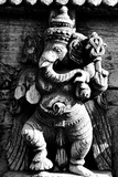 Lord Ganesh Wooden Sculpture, Mysore Temple, Karnataka, India, 1985 Photographic Print