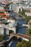 Aerial View of River Spree from Tv Tower, Berlin, Germany Photographic Print