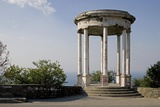 Gazebo Overlooking the Black Sea, Yalta, Crimea, Ukraine Photographic Print