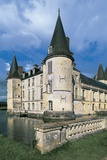 Reflection of a Castle in Water, Chateau D'O, Normandy, France Photographic Print