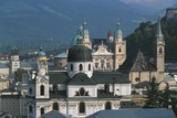 View of Historic Centre of Salzburg from Monchsberg, Austria Photographic Print