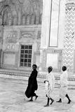 Three Sadhus Walking at Taj Mahal, Agra, Uttar Pradesh, India, 1982 Photographic Print