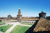 View of the Parade Ground of Sforza Castle, Milan, Lombardy, Italy Photographic Print