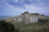 Castle Near a Coast, Dieppe, Normandy, France Photographic Print