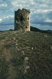 Tower on Cape Teulada, Sardinia, Italy Photographic Print