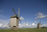 Wooden Windmills, Angla, Saaremaa Island, Estonia Photographic Print