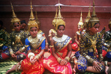Traditional Dance, New Year's Celebration, Phnom Penh, Cambodia Photographic Print
