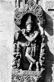 Lord Krishna Playing Flute Sculpture Belur Karnataka, India, 1985 Photographic Print