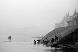 Ghats on the River Ganges, Varanasi, Uttar Pradesh, India, 1982 Photographic Print