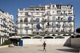Haussmann Building in Algiers, Algeria Fotografisk tryk