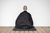 A Zen Buddhist Nun Is Practicing Zen-Meditation (Zazen) Photographic Print