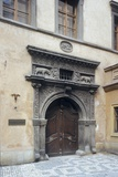 The Renaissance Portal of the Two Golden Bears House in Prague Photographic Print