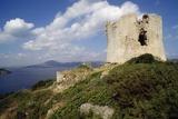 Watchtower in Porto Conte, Sardinia, Italy Photographic Print