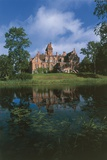 Reflection of a Castle in Water, Courland, Latvia Photographic Print