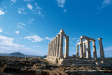Temple of Poseidon at Cape Sounion, 444-440 B.C. Photographic Print