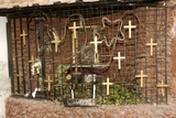Syria - Damascus. Crosses Near Greek-Orthodox Church Photographic Print