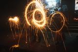 Sparkler, Diwali Festival, Katmandu, Nepal Photographic Print