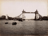 Construction of Tower Bridge, London, C.1890 Photographic Print
