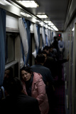 Train by Night, Hangzhou, China Photographic Print