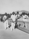 King Amanullah Khan Playing Tennis, France, 1928 Photographic Print