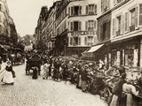 Rue Lepic, Montmartre, Paris, 1880 Photographic Print