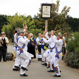 Traditional English Morris Dancers, Thornham, Norfolk Photographic Print