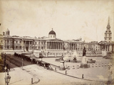 National Gallery and Trafalgar Square, London, C.1885 Photographic Print