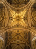 Vault of the Church of St. Ludmila, Prague, Czech Republic Photographic Print