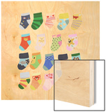Mini Socks Wood Print by Hanna Melin
