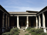 Italy, Pompeii, House of the Vettii, Reconstruction of the Peristyle Photographic Print