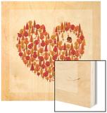 Wild at Heart Wood Print by Chris Wharton