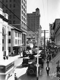 Looking South on N. E. First Avenue from N. E. 2nd Street, C.1930 Photographic Print