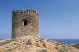 Aragonese Tower, 16th Century, Red Island, Sardinia, Italy Photographic Print