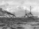 German Battleships in the Baltic Sea, 1911 Photographic Print