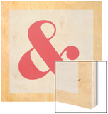 Ampersand Wood Print by Philip Sheffield