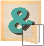 Ampersand Blue Wood Print by Philip Sheffield