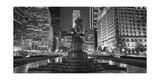 Plaza at Night Panorama Photographic Print by Henri Silberman