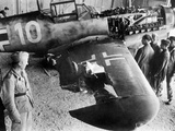 German Messerschmitt 109 after a Mission over Malta, 1942 Photographic Print