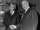 Nelson Mandela Meeting Helmut Kohl, 1990 Photographic Print