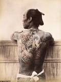 A Japanese Tattooed Man, C.1880 Photographic Print