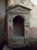 Italy, Pompeii, House of the Tragic Poet, Lararium Photographic Print