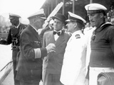 Captain Langsdorff in Negotiations with Argentinian Officials, 1939 Photographic Print
