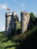 Eastern Boundary of Chateau of Robert Le Diable, Normandy, France Photographic Print