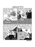 Uninvited -- a 4-panel cartoon of a Sleeping Beauty parody, in which the c... - New Yorker Cartoon Premium Giclee Print by Kate Beaton