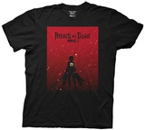 Attack On Titan- Silhoutte On Red Shirt