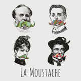 La Moustache I Prints by Clara Wells