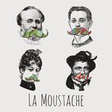 La Moustache I Prints by Clara Wells